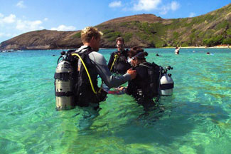 Hanauma Bay Hawaii Beginner Scuba Dive